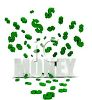 Money Logo Design with Dollar Signs clipart