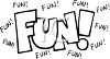 Word Art of the Word Fun clipart