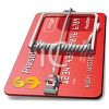 3D Credit Card Trap Metaphor clipart