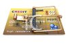 Cartoon of a Mousetrap Credit Card clipart
