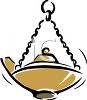 Oil Lamp Used in Religious Ceremonies clipart