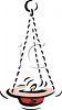 Religious Oil Lamp or Hanging Candle for Ceremonies clipart