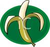 Cartoon of a Peeled Banana clipart