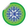 Peeling Sticker of a Snowflake Design clipart