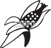 Black and White Corn on the Cob Icon clipart