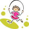 Stick Girl Skipping Rope clipart