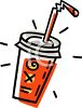 Soft Drink in a To Go Cup with a Straw and Lid clipart