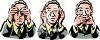 Business Man Doing See No Hear No Speak No Evil clipart
