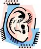 Cartoon Illustration of a Human Ear clipart