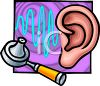 Medical Illustration of a Human Ear clipart