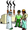 Oil Sheik with Workers  clipart
