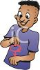 Cartoon of a Deaf Signing clipart