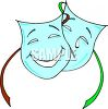 Cartoon Comedy and Tragedy Masks  clipart