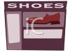 Front of a Shoe Store  clipart