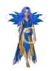 Sexy Fantasy Faerie in Blue clipart