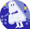 Ghostie Icon for Halloween clipart