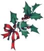 Christmas Holly with a Red Bow clipart