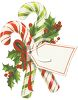 Nostalgic Candy Canes with a Christmas Tag clipart