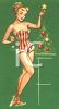 Sexy Christmas Pin-Up Girl clipart