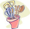 Cooking Utensils in a Container  clipart