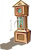 Grandfather Clock Casting a Shadow clipart