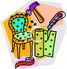 Furniture Repair and Upholstery Icon clipart