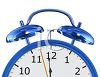 3D Alarm Clock Showing Twelve O'clock clipart
