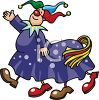 Circus Clowns in a Horse Costume clipart