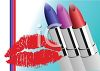 Lipstick and a Lipstick Kiss clipart