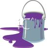 Cartoon of Spilled Latex Paint  clipart