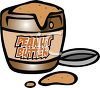 Cartoon of a Jar of Peanut Butter clipart