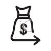 Currency Bank Bag Icon clipart