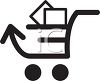 Internet Mail Shopping Cart clipart