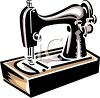 Vintage Sewing Machine Seamstress Equipment clipart