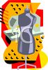 Seamstress Dummy and Sewing Machine clipart
