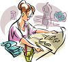 Fashion Designer Drawing Clothing Images clipart