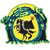 Halloween Graphic of the Headless Horseman Holding His Head clipart