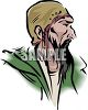 Old Poor Homeless Man clipart