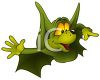 Cartoon of a Cute Halloween Bat clipart