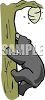 Bear Climbing a Tree to Get to a Beehive clipart