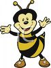 Cartoon of a Cute Honeybee clipart