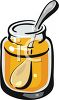 Jar of Golden Honey with a Spoon clipart
