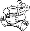 Cartoon of a Bear Holding a Honey Pot clipart