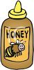Sqeeze Bottle of Honey clipart