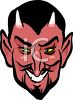 Devil with Glowing Yellow Eyes clipart