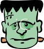 Cartoon Frankenstein Face clipart