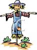 Scarecrow in a Home Garden clipart