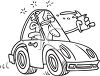 Drunk driver clipart
