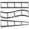 Film strips or strips of film clipart