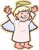 Little Angel Costume for Halloween clipart